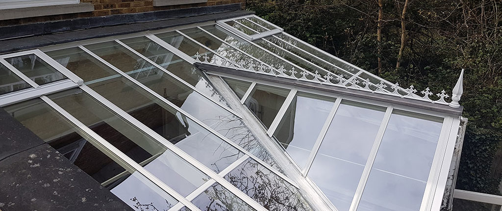 Conservatory roof cap replacement