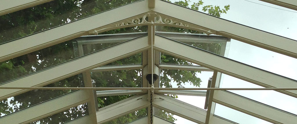 Conservatory roof vent installation